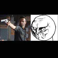 Haha! The Walking Dead meme.