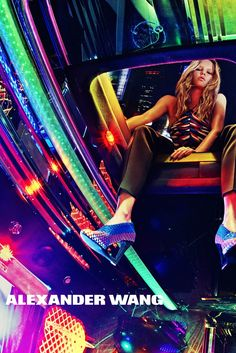 Anna Ewers in the Alexander Wang campaign for spring. [Courtesy Photo]