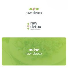 Raw Detox Logo is highly suitable for vegan and detox products and foods, detox diet, bio research, bio food, cooking, raw food restaurant.