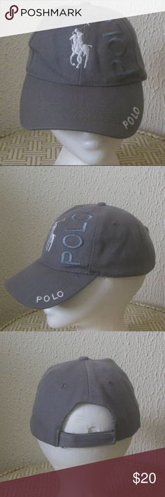 "Polo Cap Adjustable ""sticky"" (v-word) closure.  One size. Minimal wear, inner ring has some wear, see photos. Polo by Ralph Lauren Accessories Hats"