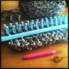Trying my hand at loom knitting...