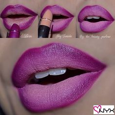 Purple-to-Nude Ombré Lip Pictorial With NYX Cosmetics Matte Lipsticks!