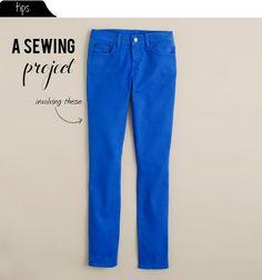 Anleitung Jeans enger nähen