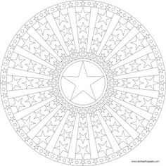 Star Mandala Picture to Color, Mandala coloring Pages, Pattern Mandala, Free… Pattern Coloring Pages, Mandala Coloring Pages, Coloring Book Pages, Printable Coloring Pages, Coloring Sheets, Coloring Pages For Grown Ups, Flower Mandala, To Color, Colorful Pictures