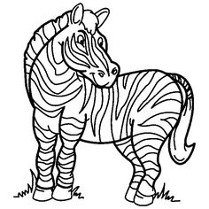Zebra Color Page Free Animal Coloring Pages Printable Animals