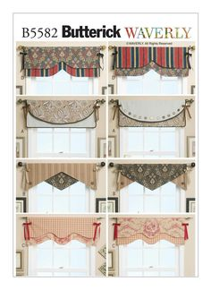 pattern for making reversible window valence. possible craft room