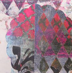 "Chloe Urban; Monotype, 2012, Printmaking ""Agean"""