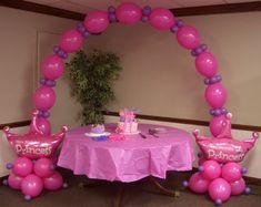 Princess Birthday Balloon Party Theme ~ Tulsa, OK Balloon Arch Diy, Balloon Crafts, Flower Balloons, Balloon Tower, Balloon Party, Birthday Balloons, 1st Birthday Parties, Birthday Party Decorations, Princess Balloons