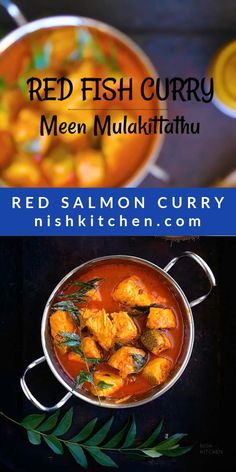 Salmon Curry, Fish Curry, My Favorite Food, Favorite Recipes, Tasty, Yummy Food, Fusion Food, Red Fish, Kitchen Recipes