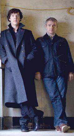 Adorable. Sherlock Holmes (Benedict Cumberbatch) and John Watson (Martin Freeman)