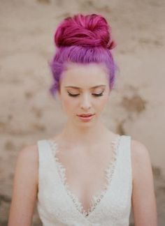 Ombre Purple Hairstyle for 2014