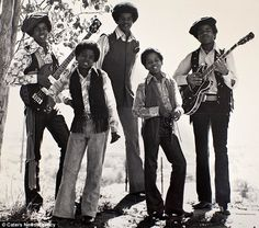 From left: Jermaine, Michael, Jackie, Marlon and Tito Jackson in their Jackson 5 glory days