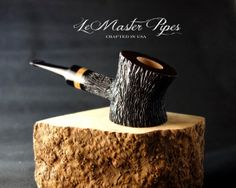 Handmade briar wood tobacco pipe Drunken Logger