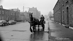 A CIÉ carter on Portland Row, Dublin, Ireland Pictures, Old Pictures, Old Photos, Vintage Photos, Dublin Street, Dublin City, Ireland Homes, Photo Engraving, Dublin Ireland