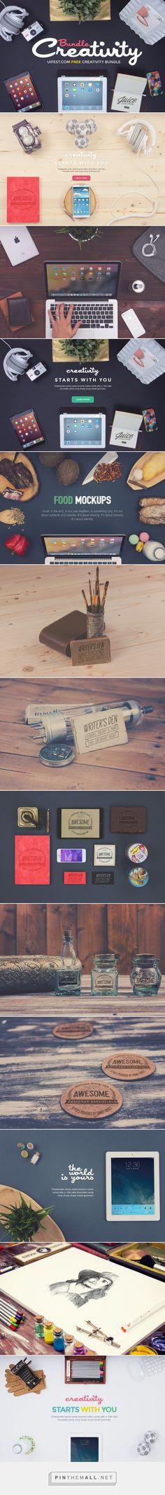 GraphicsFuel |  Premium & Free Graphic & Web Design Resources!   –  Free Creativity Mockups Bundle - created via http://pinthemall.net