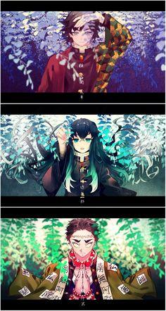 from the story Kimetsu No Yaiba Doujinshi by HinawariAsuka (. Anime Chibi, Manga Anime, Fanarts Anime, Otaku Anime, Anime Art, Anime Angel, Anime Demon, Demon Slayer, Slayer Anime