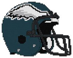 Counted Cross Stitch Pattern Philadelphia Eagles Helmet by AnjisAntics, $4.25