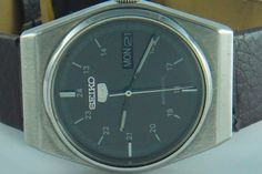 ORIGINAL VINTAGE SEIKO 5 AUTOMATIC DAY DATE JAPAN MADE MEN'S WRIST WATCHES #19711983 #Casual