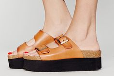 13 Reasons To Bring Back Birkenstocks #refinery29  http://www.refinery29.com/birkenstocks#slide9  SixtySeven Paige Platforms in Tan, $80, available at Free People.