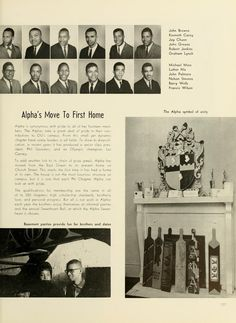 Athena yearbook, The Alpha Phi Alpha establishes its first home on Church Street. Alpha Phi Alpha, Alpha Male, World History, Art History, Greek Brothers, Theta Tau, Black Fraternities, December 4th, Social Organization