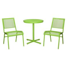 Room Essentials™ LaSalle 3-Piece Mesh Patio Bistro Furniture Set - Green from Target. Comes in green, aqua, or red.