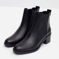 STIVALETTO CON ELASTICO E TACCO | ZARA Italia  # shoe # boots # black