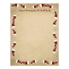 Cute Holiday Stationery | Country Christmas Letterhead Templates