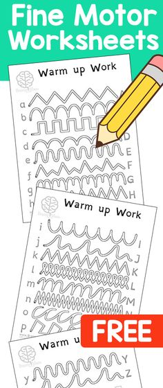 My Kids LOVE these Free Pencil Control Worksheets Perfect for Daily Warmup Exercises Includes lowercase uppercase letters Toddler Learning, Preschool Learning, Early Learning, In Kindergarten, Fun Learning, Preschool Activities, Teaching, Preschool Writing, Kindergarten Handwriting