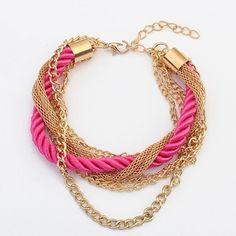 *Free Shipping* brand new gold bangle bracelets women fashion female jewellery color leather bracelets charm wholesale vintage jewelry