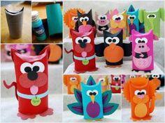 Animales con rollos de papel de water! | Manualidades Gratis