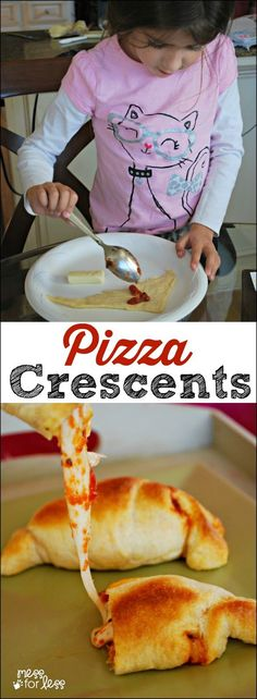 Crescent Roll Recipes: Pizza Crescents these are the perfect after school snack for kids. So simple to make and SO delicious! The post Crescent Roll Recipes: Pizza Crescents these are the perfect after school snac appeared first on Recipes. Pizza Recipes, Snack Recipes, Cooking Recipes, Easy Recipes, Skillet Recipes, Cooking Tools, Simple Recipes For Kids, Supper Ideas For Kids, Cooking Steak