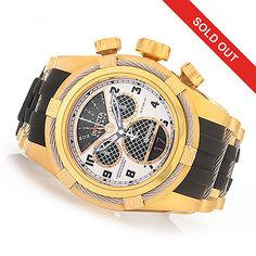 "630-315 - Invicta Reserve 52mm Bolt Zeus ""Twisted Metal"" Swiss Made Quartz Chronograph Strap Watch"