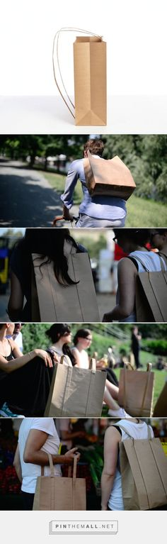 PaperJohn #Concept #paperbag #backpack #packaging designed by OGATA UG - http://www.packagingoftheworld.com/2015/07/paperjohn-concept.html