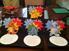 Cricut Pokemon Pop Up Birthday Invitation. Made this so Once the card is open the Pokemon in the middle pops up like in a PokeBall!!! #cricut #pokemon #popup HANDMADE MYSELF.