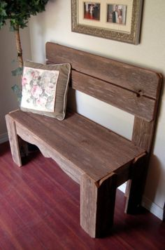 Rustic bench I want this!!!!