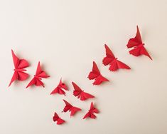 3D Wall Butterflies 20 Poppy Red Butterfly by hipandclavicle, $40.00
