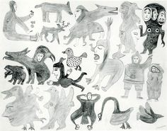 trange Scenes: Early Cape Dorset Drawings, Jean Blodgett and Susan Gustavison, McMichael Canadian Art Collection, Kleinberg, Ontario, 1993