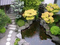 Great japanischer garten anlegen trittsteine rund kiesweg koi teich b ume