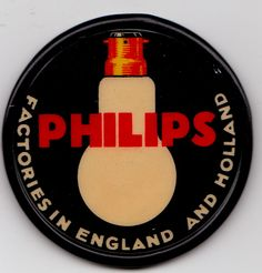THE PHILIPS FACTORIES IN ENGLAND AND HOLLAND - VERY NICE POCKET MIRROR