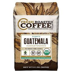 Organic Guatemala Huehuetenango Fair Trade Coffee, Whole Bean coffee, Fresh Roasted Coffee LLC (2 lb.)