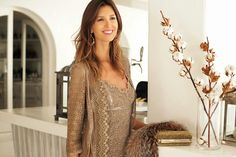 Paillettes, lace and earth tones: the perfect combination for a sophisticated and feminine party outfit by Ibiza Rocks Me by Ana Vide  SHOP ONLINE:  http://www.charoruiz.com/es/producto/vestido-mini-2/ http://www.charoruiz.com/es/producto/chaqueta-entallada/  Location: Cotton Beach Club Ibiza