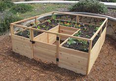 8x8 Raised Cedar Garden Bed, Outdoor Living Today