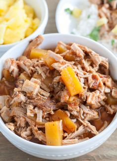 Slow cooker pineapple pork is a delicious flavorful meal. Made with black pepper marinated pork tenderloin and a slightly sweet pineapple sauce.