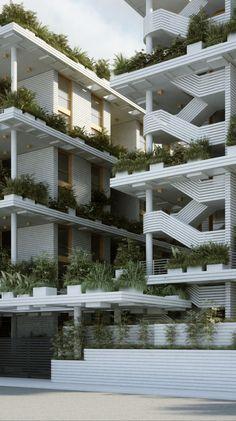 Gallery of Penda Designs Sky Villas with Vertical Gardens for Hyderabad - 17