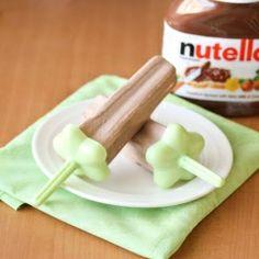 Homemade Nutella Fudgsicles #foodgawker