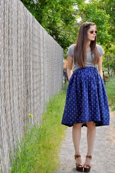 DIY Clothes Maternity Refashion : DIY maternityVery gathered A-line maternity skirt