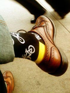 ha ha - bike socks - love the yellow heel ;)