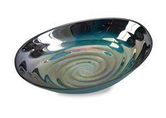 Moody Seas Swirl Glass Bowl