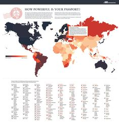 How Powerful is Your Passport #infographic #Passport #Travel