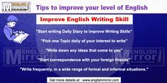 Tips to Improve English writing. Find free online tips to achieve fluency in writing with accuracy and improvements in your nerrative skill in english language. Improve English Writing Skills, Improve Your English, Learn English For Free, Start Writing, Pick One, English Language, Improve Yourself, Success, Learning